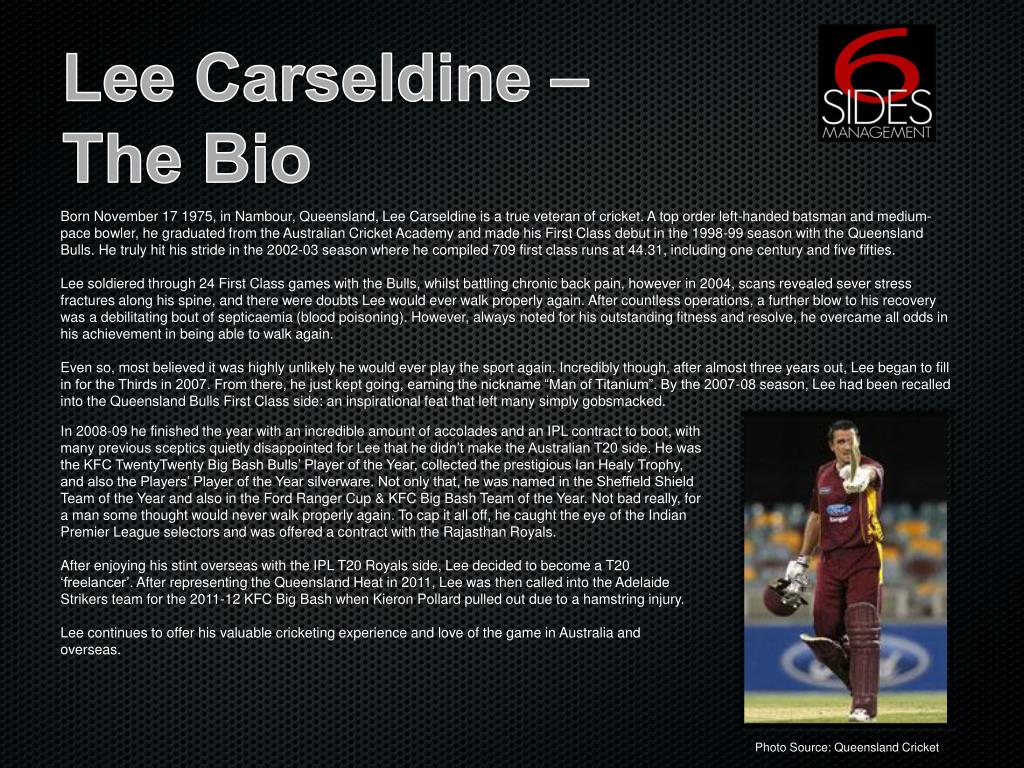 PPT - Lee Carseldine PowerPoint Presentation - ID:5039737