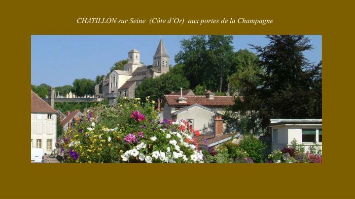 CHATILLON sur Seine  (Côte d'Or)  aux portes de la Champagne