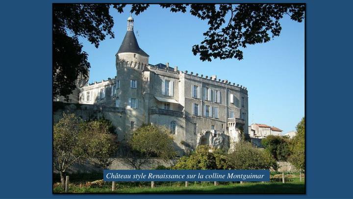 Château style Renaissance sur la colline Montguimar
