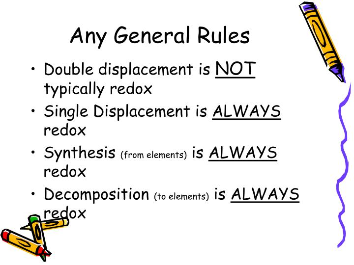 Any General Rules