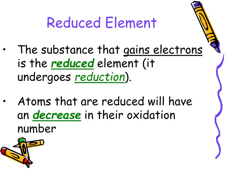 Reduced Element