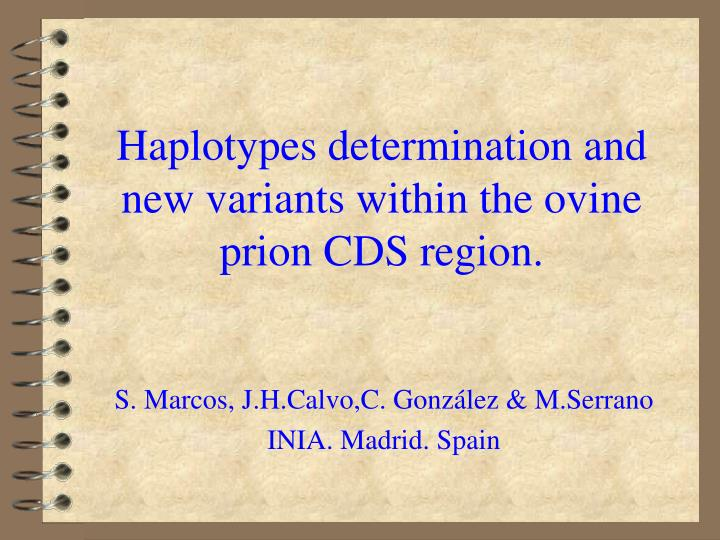 haplotypes determination and new variants within the ovine prion cds region n.