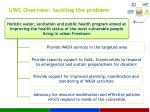 uwc overview tackling the problem