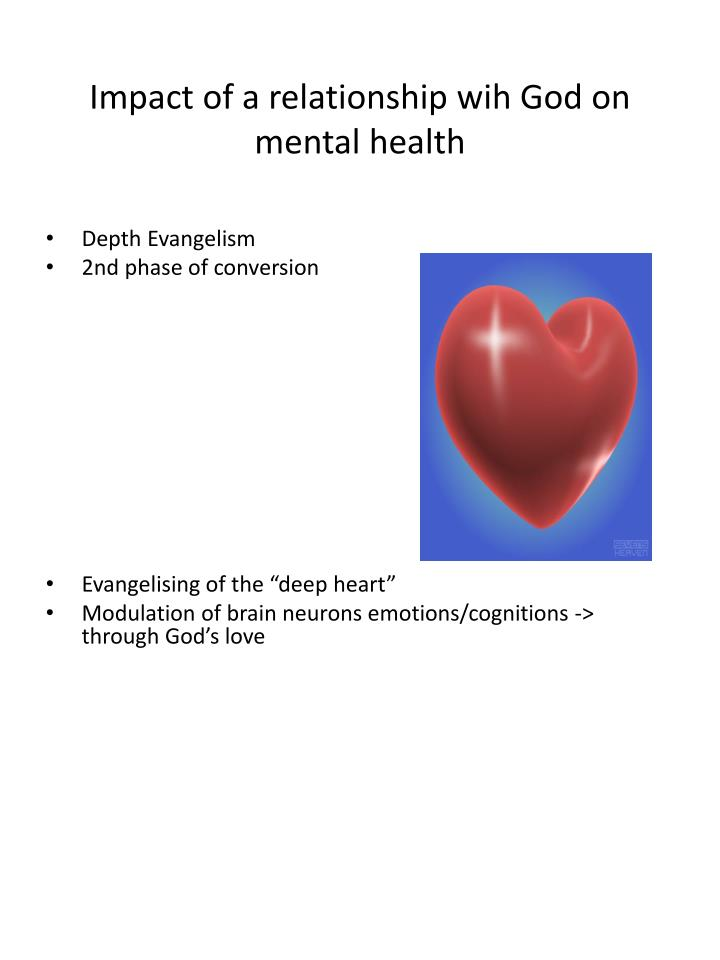 Impact of a relationship wih God on mental health