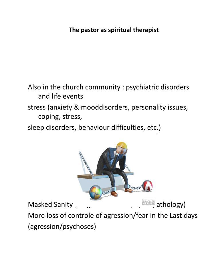 The pastor as spiritual therapist