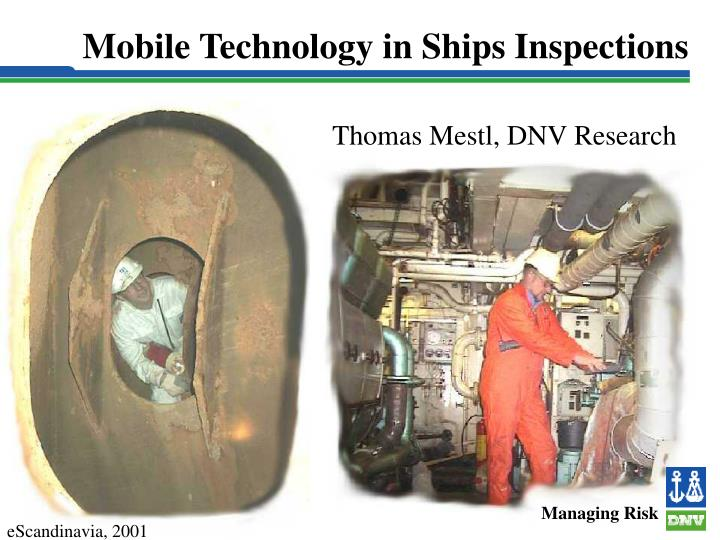 mobile technology in ships inspections n.