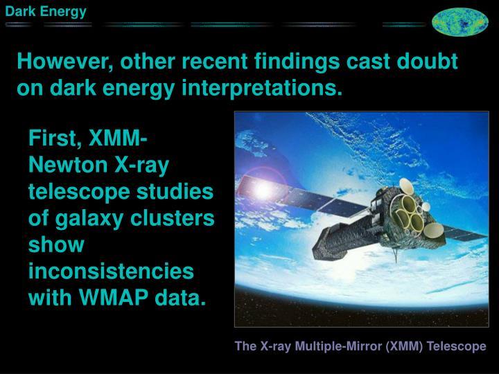 However, other recent findings cast doubt on dark energy interpretations.