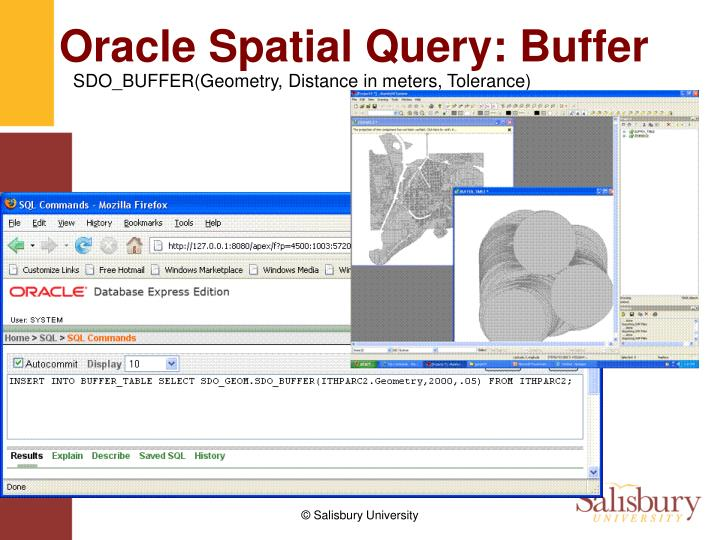 Oracle Spatial Query: Buffer
