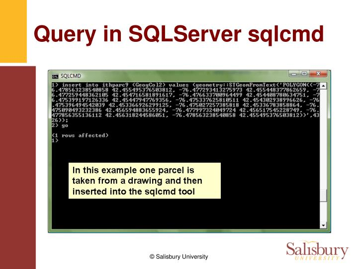 Query in SQLServer sqlcmd