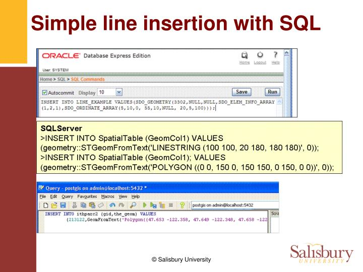 Simple line insertion with SQL