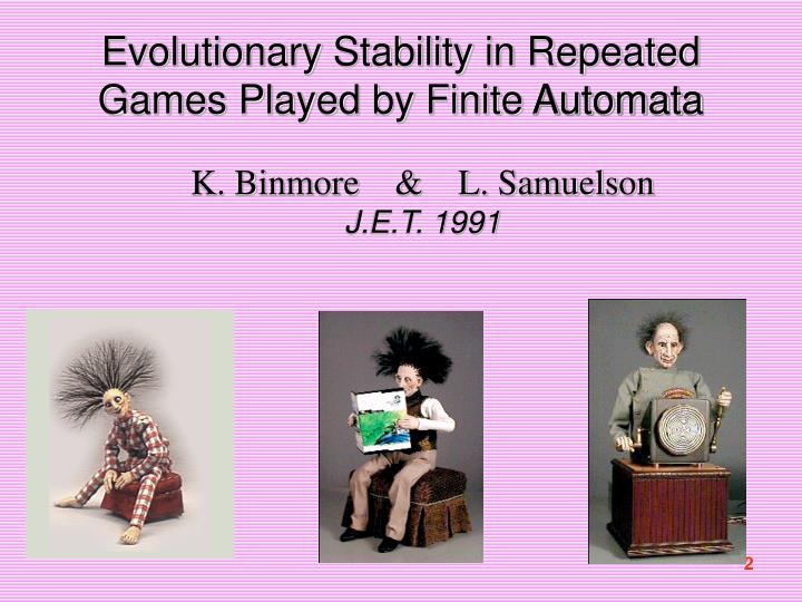 Evolutionary stability in repeated games played by finite automata