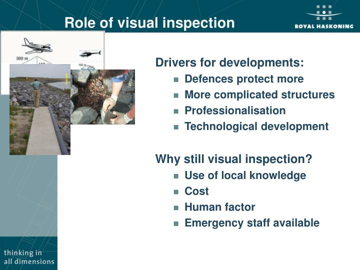 Role of visual inspection