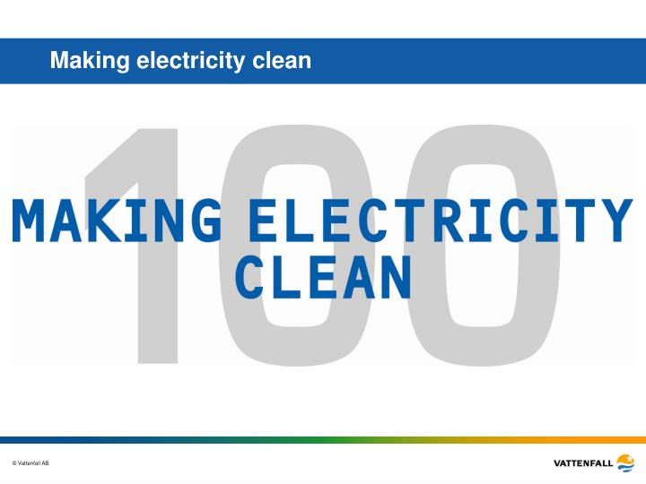 Making electricity clean