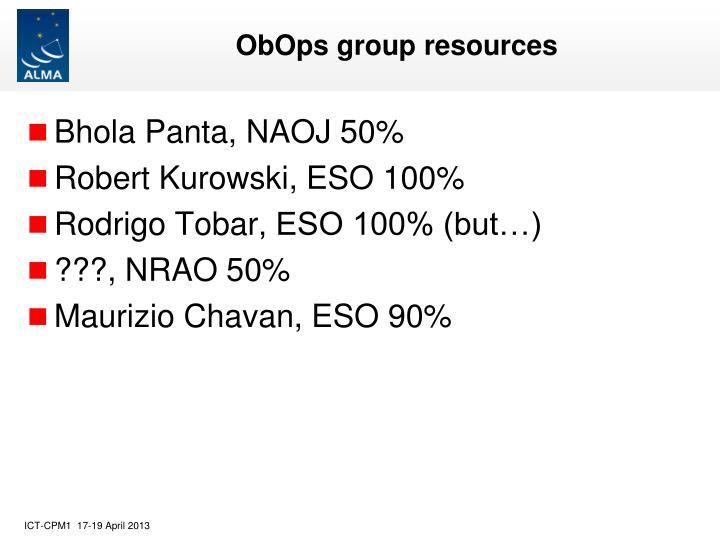 Obops group resources