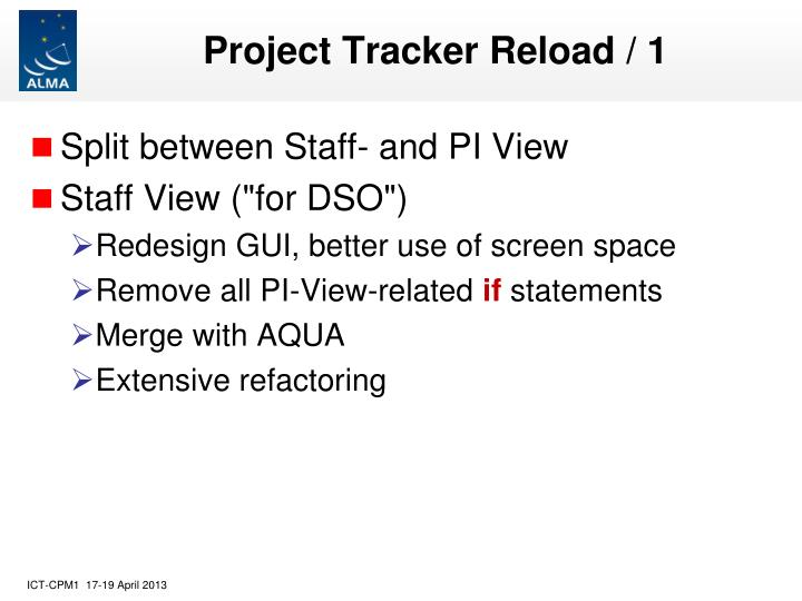 Project Tracker Reload / 1