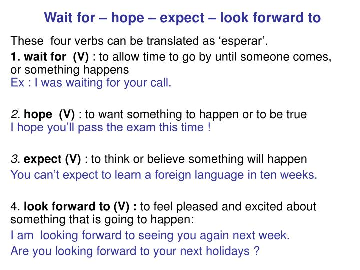 Ppt Wait For Hope Expect Look Forward To Powerpoint