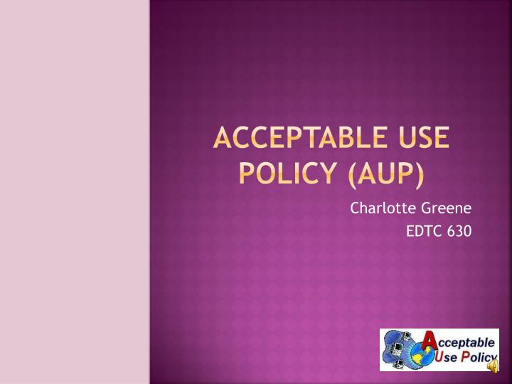 acceptable use policy aup n.