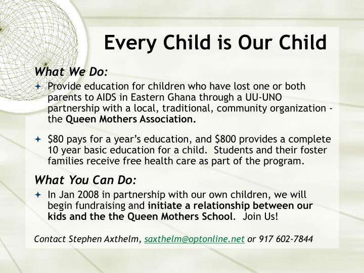 Every Child is Our Child