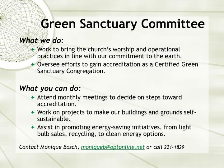 Green Sanctuary Committee