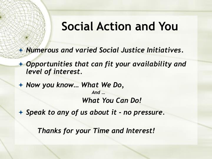 Social Action and You