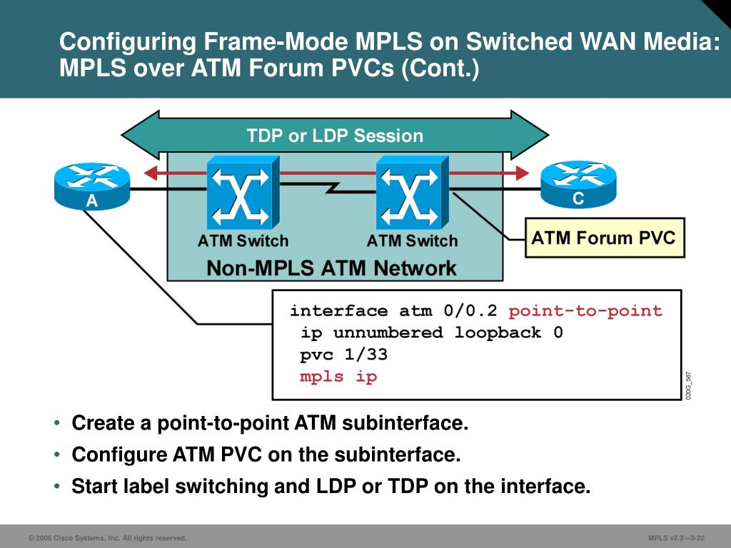 PPT - Frame-Mode MPLS Implementation on Cisco IOS Platforms