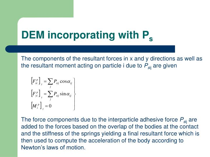DEM incorporating with P