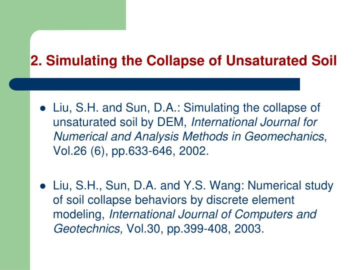 2. Simulating the Collapse of Unsaturated Soil