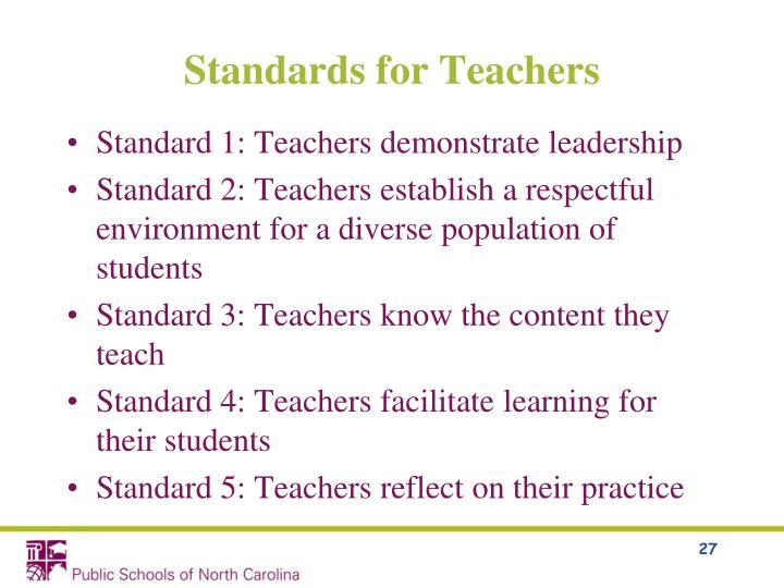 Standards for Teachers