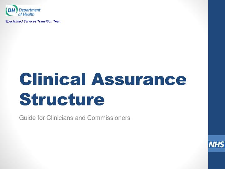 clinical assurance structure n.