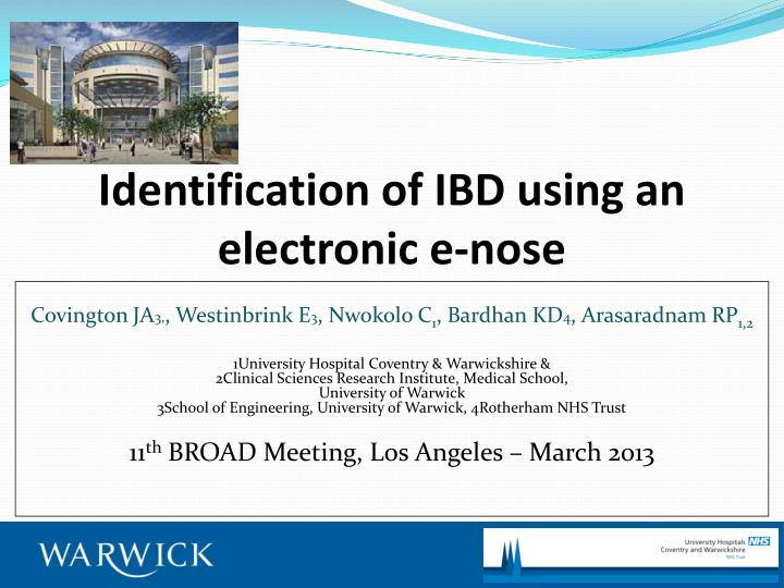 Identification of ibd using an electronic e nose
