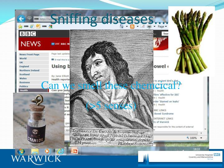 Sniffing diseases..…