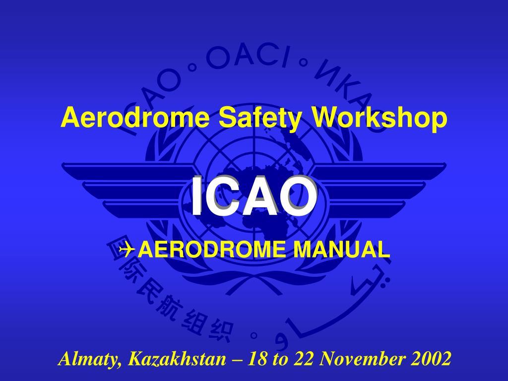 aerodrome manual n.