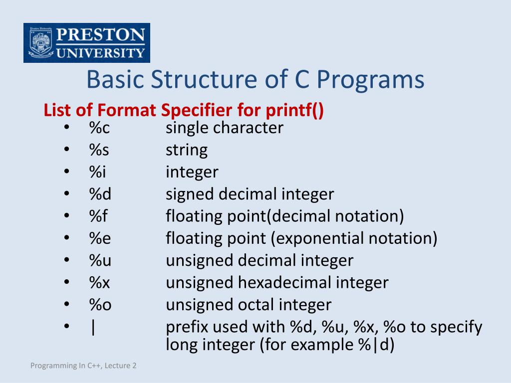 PPT - Programming In C++ PowerPoint Presentation - ID:5042406
