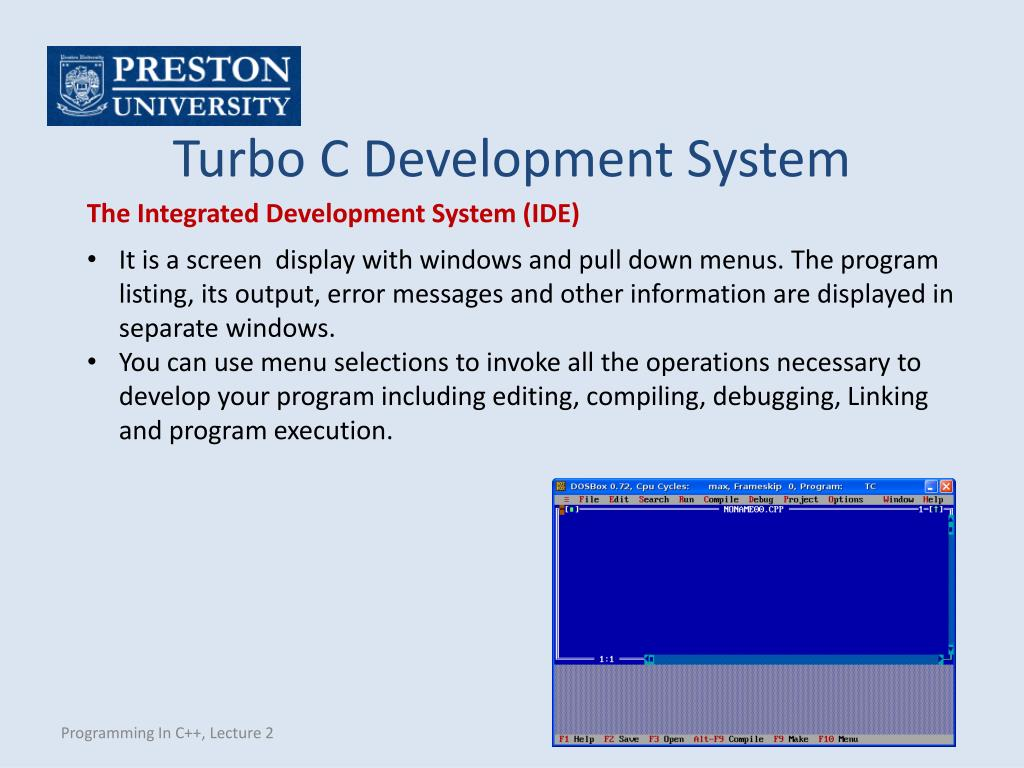 How To Use Turbo C