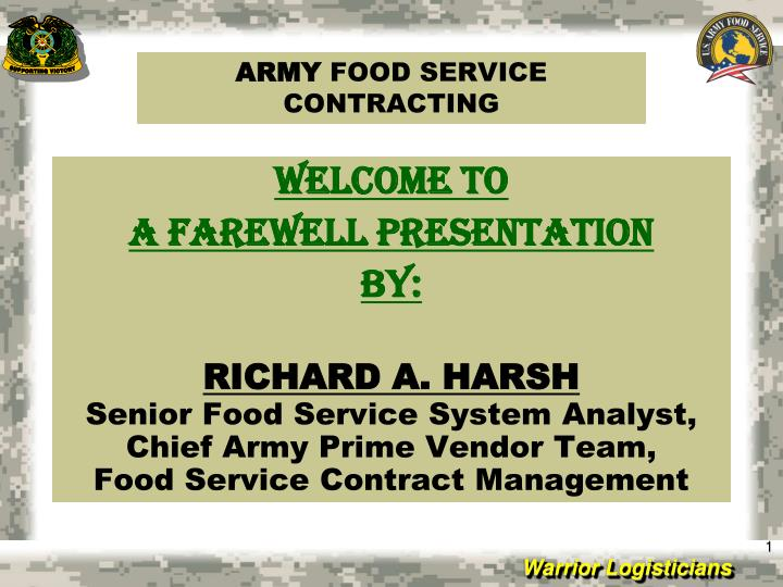 army food service contracting n.