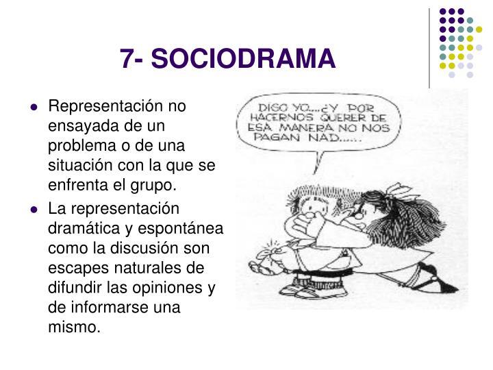 7- SOCIODRAMA