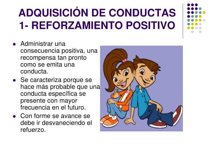 ADQUISICIÓN DE CONDUCTAS