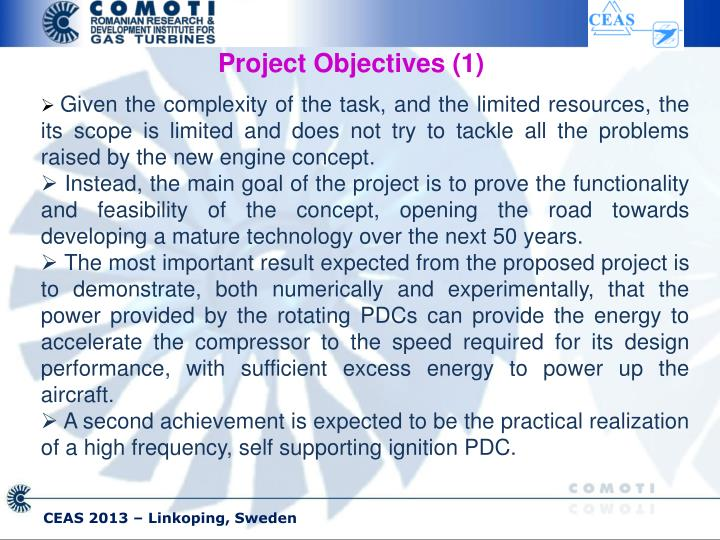 Project Objectives (1)