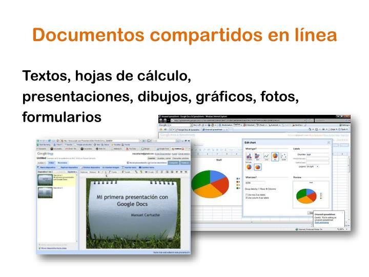 Documentos compartidos en línea