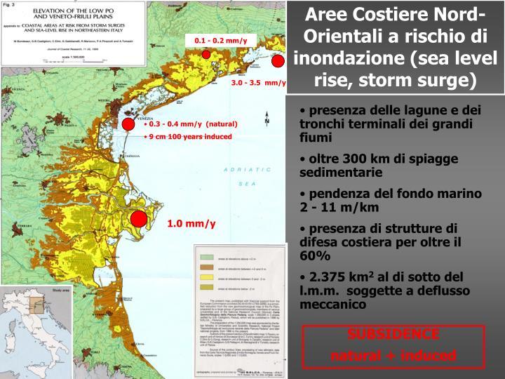 Aree Costiere Nord-Orientali a rischio di inondazione (sea level rise, storm surge)