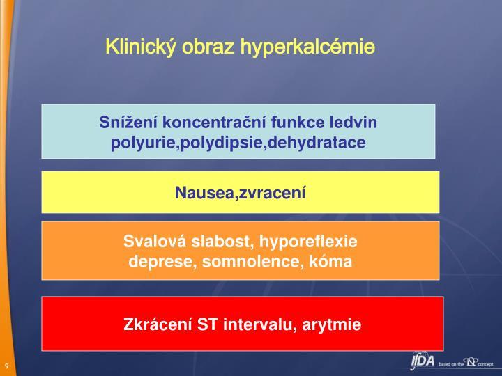 Klinický obraz hyperkalcémie