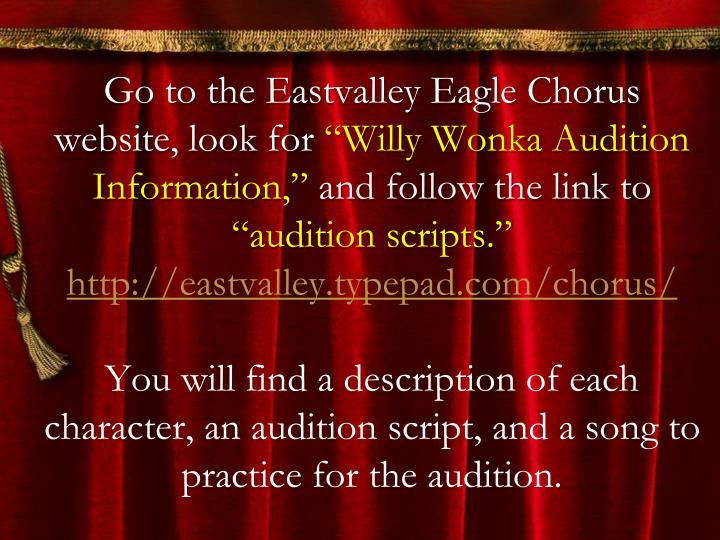 Go to the Eastvalley Eagle Chorus website, look for