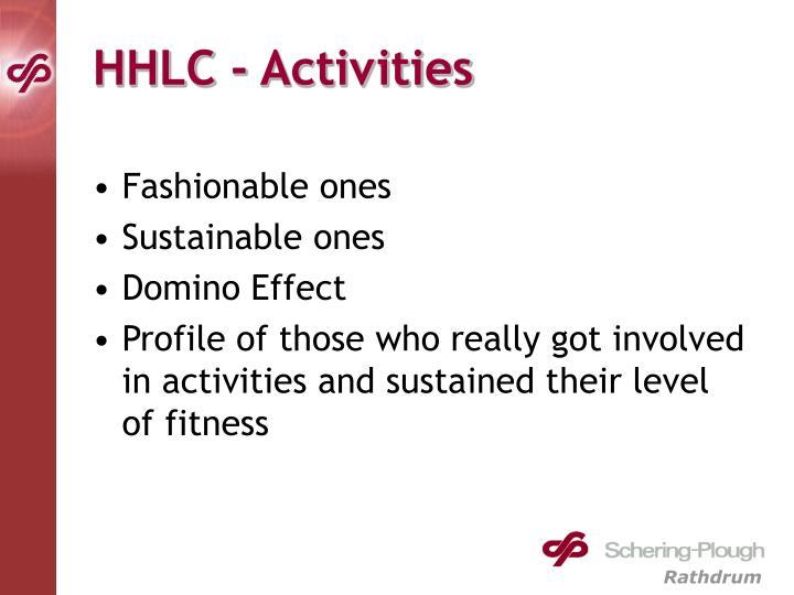 HHLC - Activities