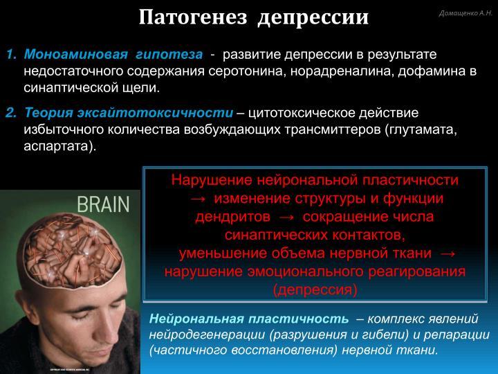 Депрессия патогенез