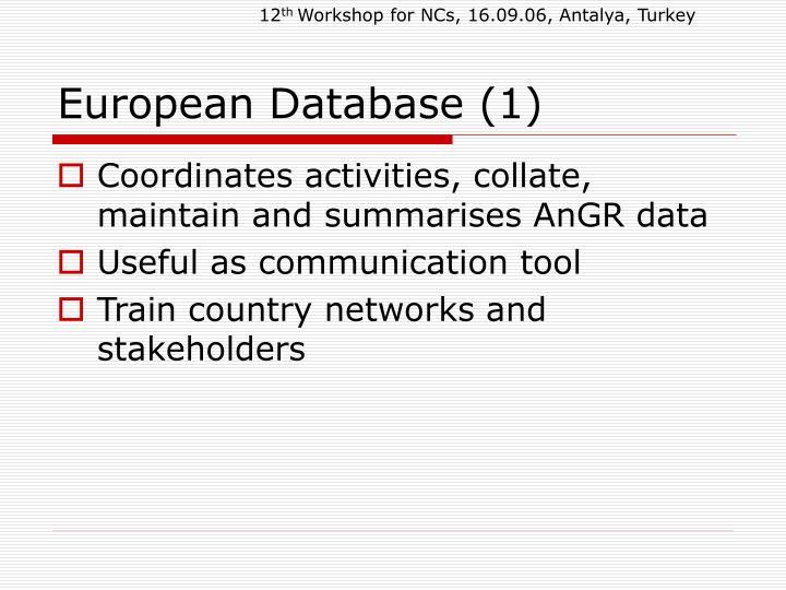 European database 1