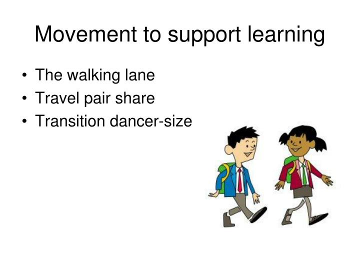 Movement to support learning