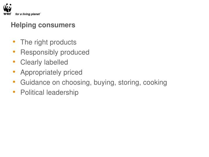 Helping consumers