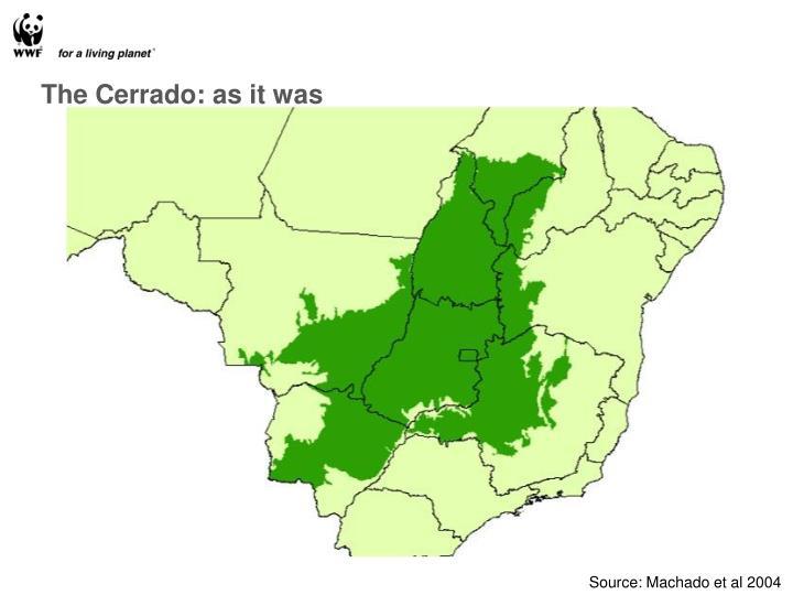 The Cerrado: as it was
