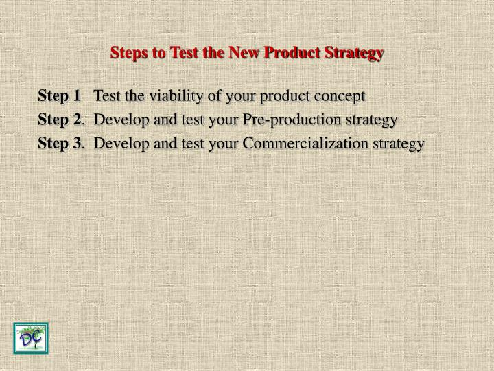 Steps to Test the New Product Strategy