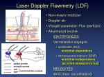 laser doppler flowmetry ldf